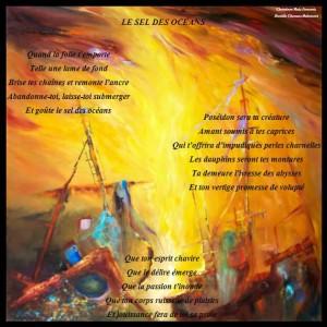 poème de danièle Chaneac le sel des océans